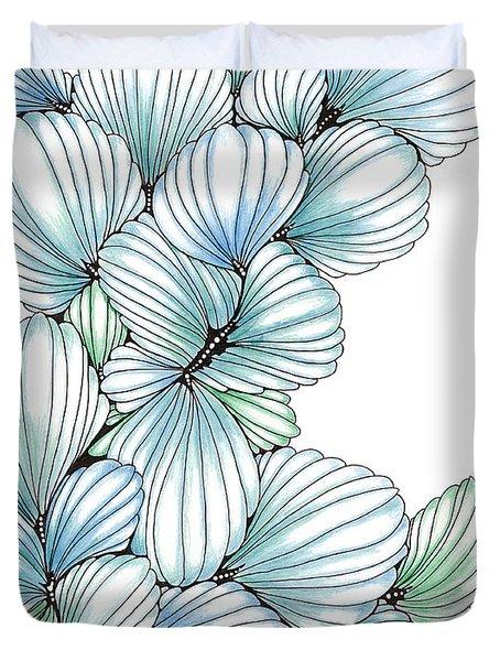 Pearlescent Plume Duvet Cover