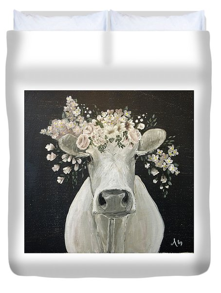 Pearlette The Cow Duvet Cover