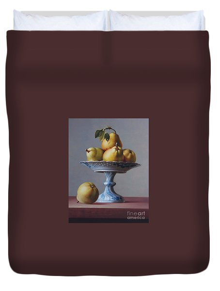 Pears And Compote Duvet Cover
