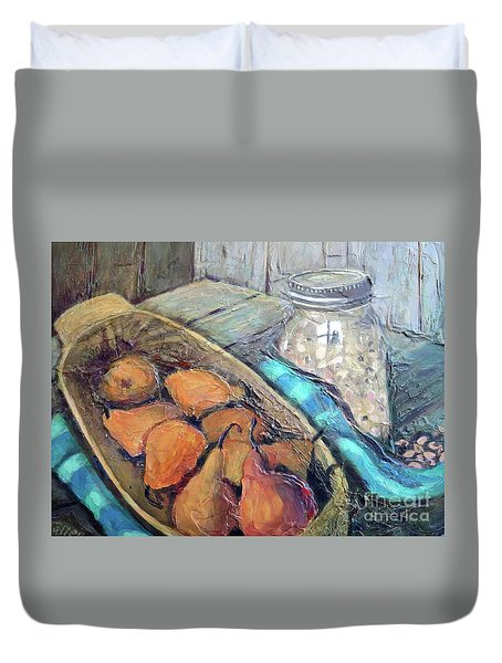 Pears And Peas Duvet Cover
