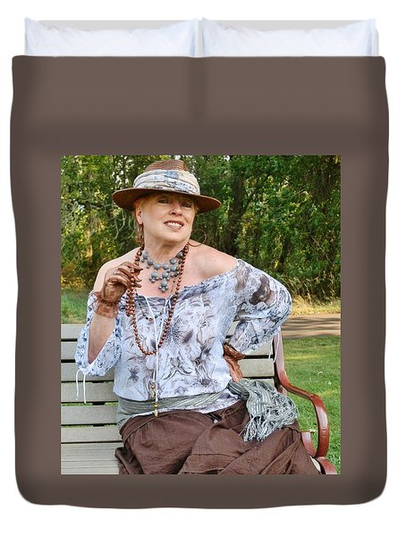 Peasant Allure Duvet Cover by VLee Watson