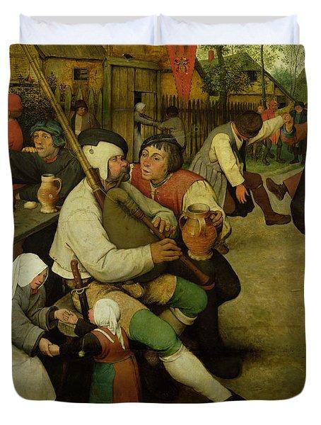 Peasant Dance Duvet Cover by Pieter the Elder Bruegel