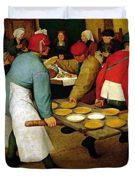 Peasant Wedding Duvet Cover by Pieter the Elder Bruegel