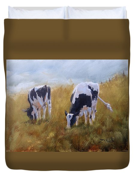 Peace On Earth Five Duvet Cover by Laura Lee Zanghetti