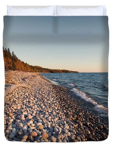 Pebble Beach Autumn    Duvet Cover