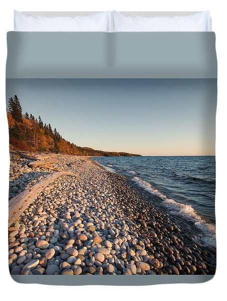 Pebble Beach Autumn    Duvet Cover
