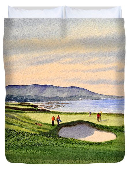 Pebble Beach Golf Course Duvet Cover