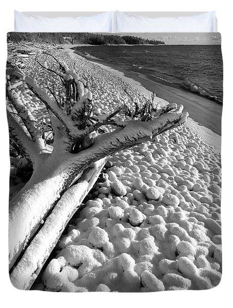 Pebble Beach Winter Duvet Cover