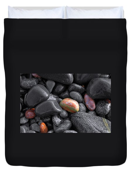 Pebble Jewels   Duvet Cover