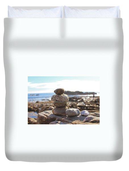 Peceful Zen Rocks Duvet Cover