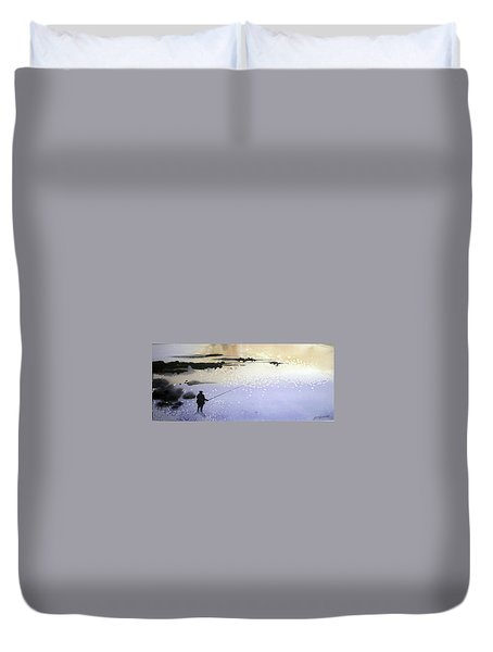 Peche Duvet Cover by Ed Heaton