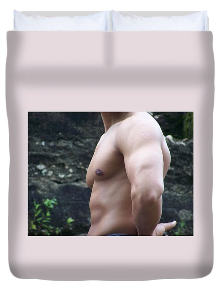 Duvet Cover featuring the photograph Pectacular by Jake Hartz