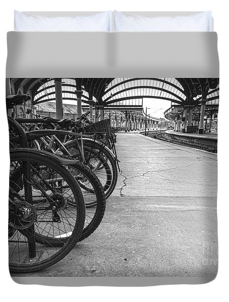 Pedal Power Park Duvet Cover by David  Hollingworth