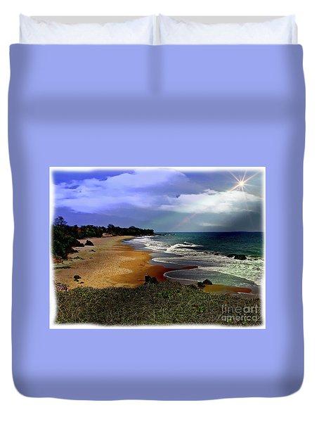 Pedasi Beach, In The Dry Arc Of Panama Duvet Cover