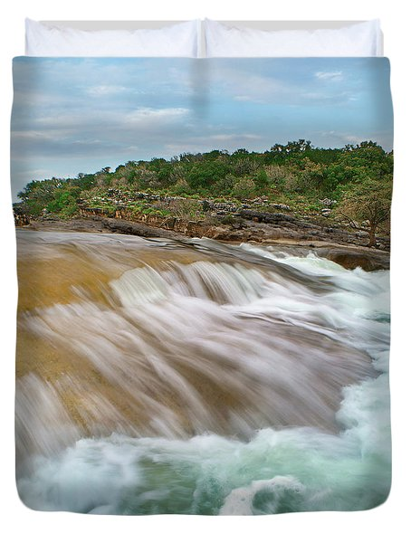 Pedernales Falls Duvet Cover by Tim Fitzharris