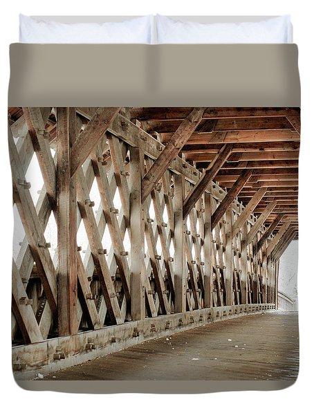 Pedestrian Bridge Guelph Ontario Duvet Cover