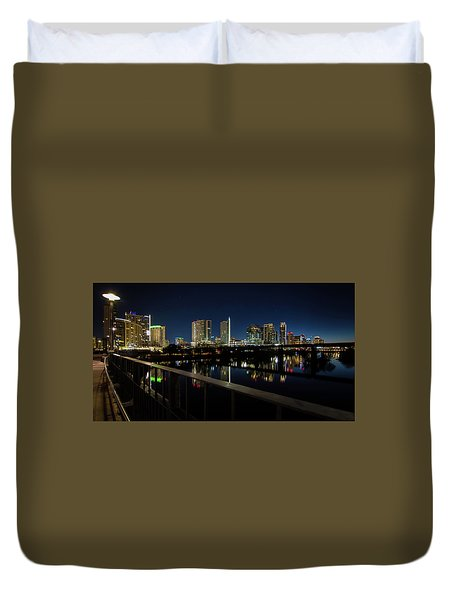 Pedestrian Bridge View Duvet Cover