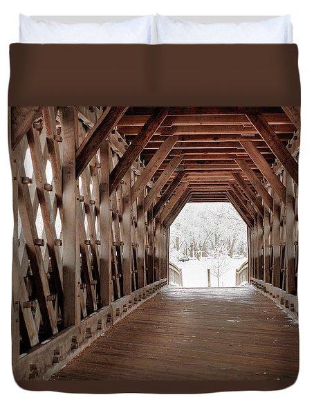 Pedestrian Lattice Bridge Duvet Cover