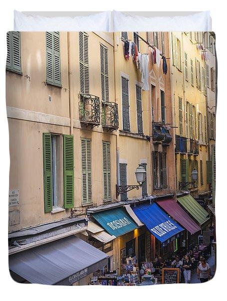 Street In Old Nice Duvet Cover