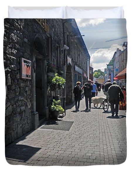 Pedestrian Street In Kilkenny Duvet Cover