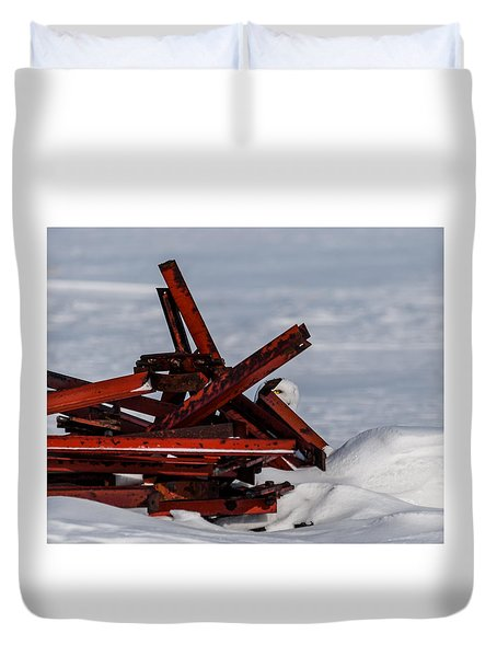 Duvet Cover featuring the photograph Peek-a-boo by Dan Traun