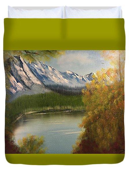 Peek-a-boo Mountain Duvet Cover