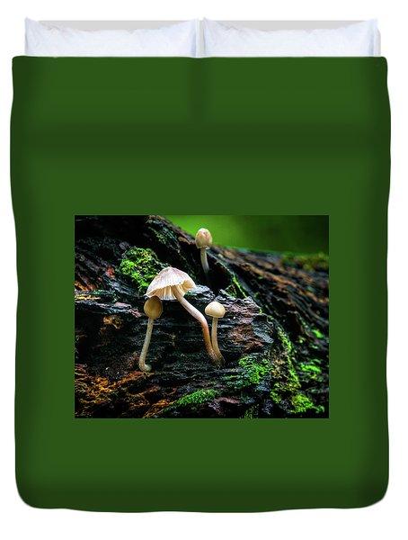 Peek-a-boo Mushroom Duvet Cover