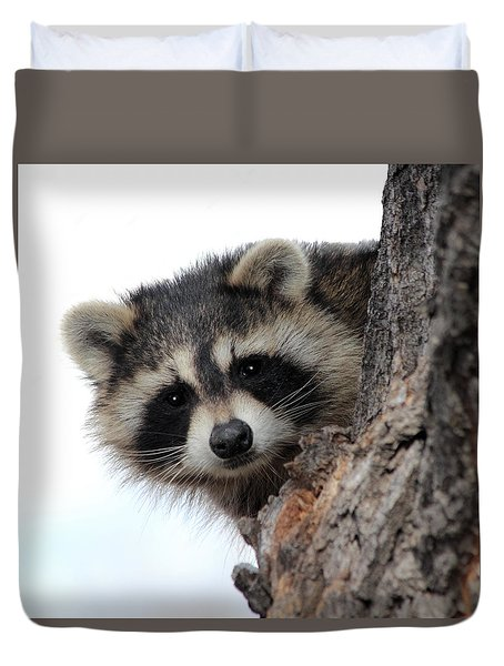 Duvet Cover featuring the photograph Peek-a-boo by Shane Bechler