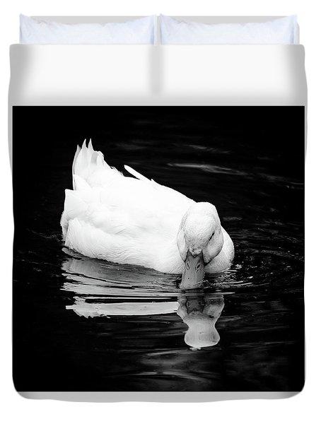 Peek-ing Duck Duvet Cover