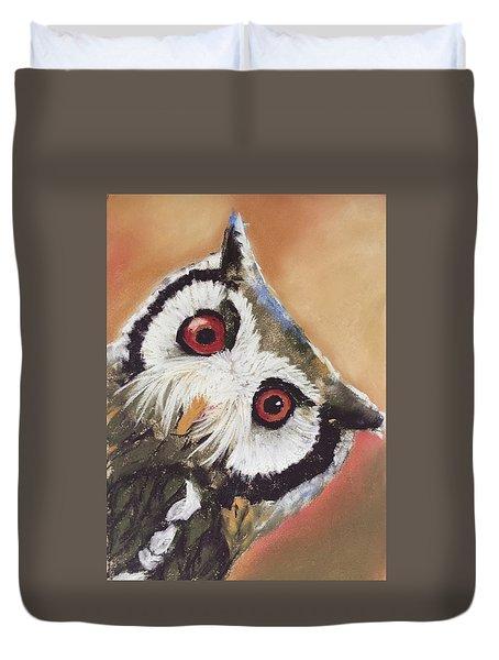 Peekaboo Owl Duvet Cover