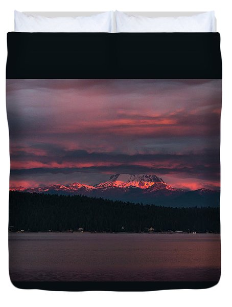 Peekaboo Sunrise Duvet Cover by Jan Davies