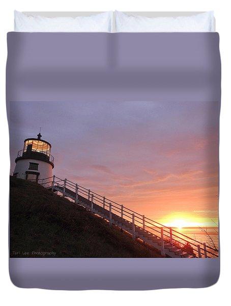 Peeking Sunrise Duvet Cover