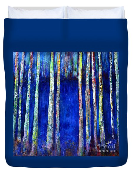 Peeking Through The Trees Duvet Cover