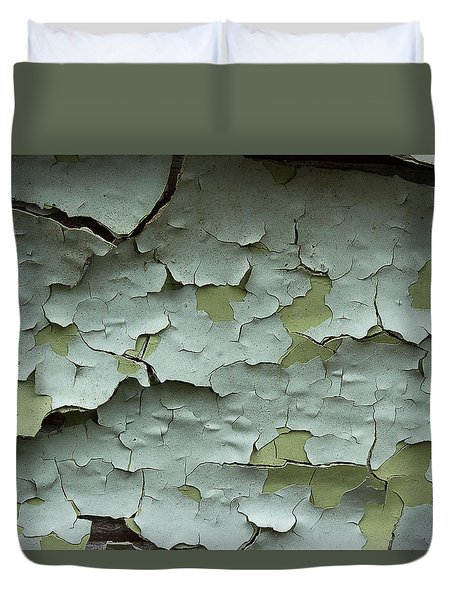 Duvet Cover featuring the photograph Peeling 2 by Mike Eingle