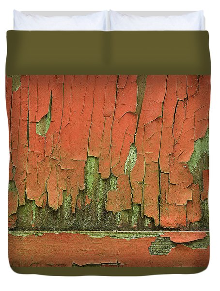 Duvet Cover featuring the photograph Peeling 4 by Mike Eingle