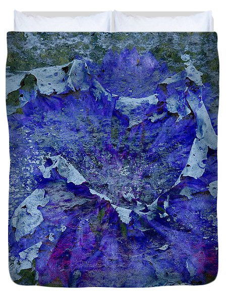 Duvet Cover featuring the photograph Peeling And Neglected by Clare Bambers