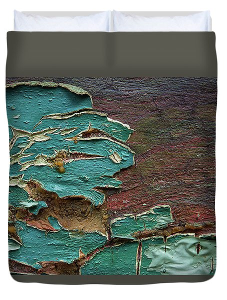 Duvet Cover featuring the photograph Peeling by Mike Eingle
