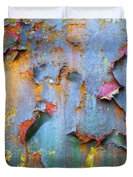 Peeling Paint And Rust Textures 135 Duvet Cover