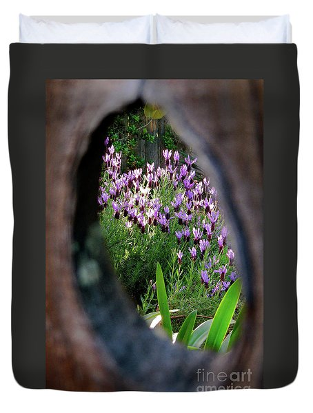 Peephole Garden Duvet Cover by CML Brown