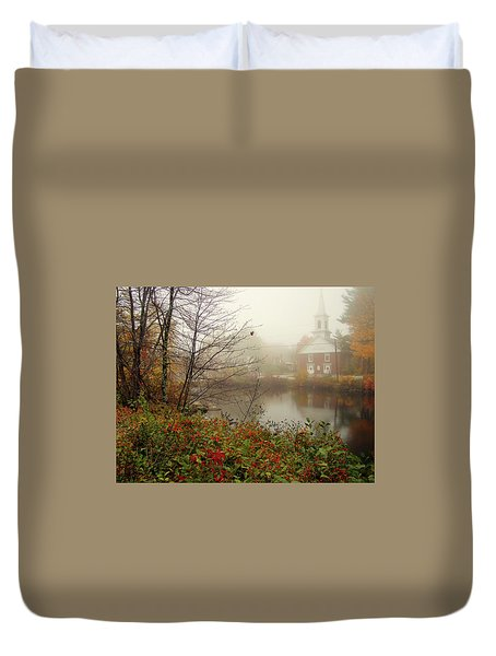 Foggy Glimpse Duvet Cover