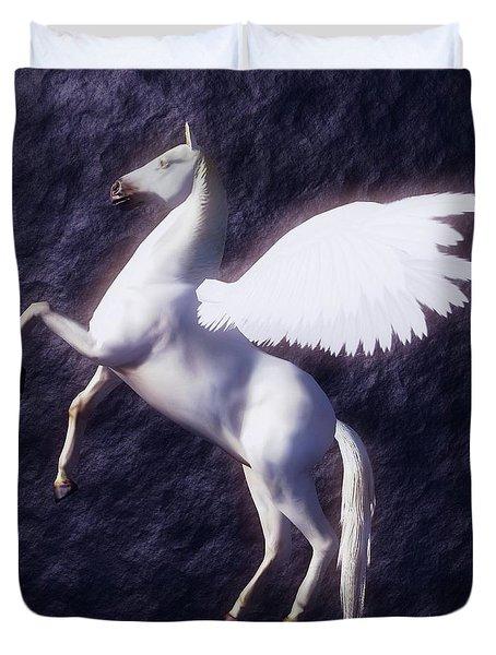 Pegasus By Sarah Kirk Duvet Cover