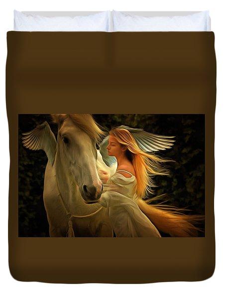 Pegasus Or Angel Duvet Cover
