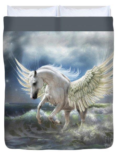 Pegasus Rising Duvet Cover