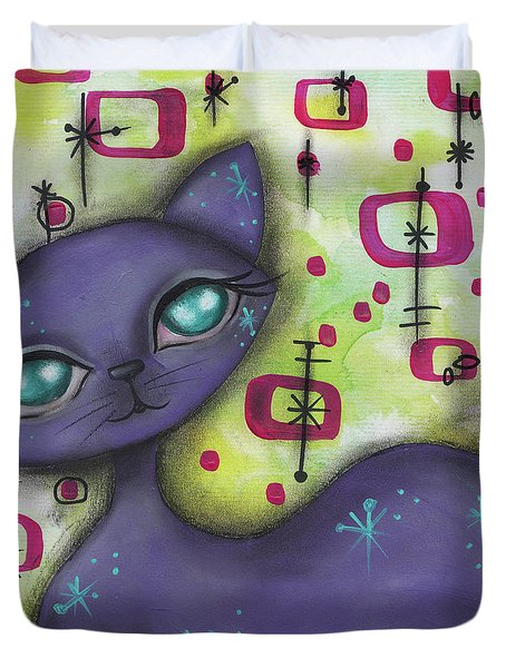 Peggy Cat Duvet Cover by Abril Andrade Griffith