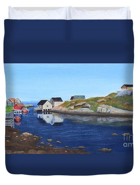 Peggy's Cove Duvet Cover