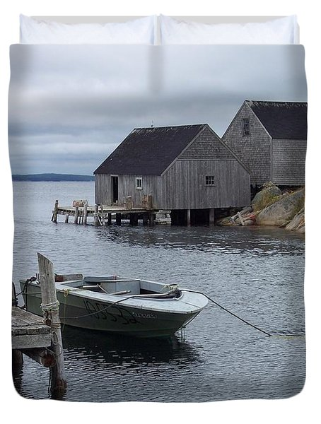 Duvet Cover featuring the photograph Peggys Cove Canada by Richard Bryce and Family