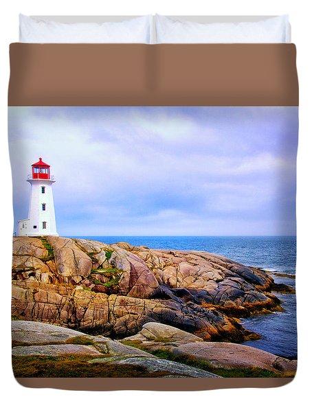 Peggys Cove Lighthouse Duvet Cover