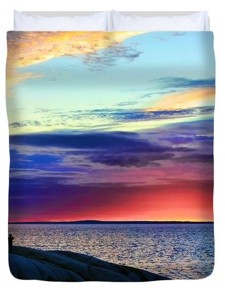 Peggy's Cove Lighthouse Duvet Cover