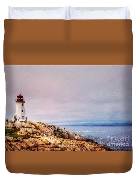 Peggys Point Lighthouse Duvet Cover