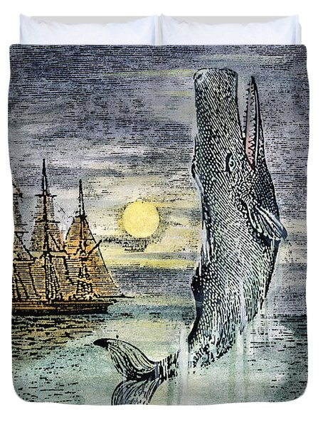 Pehe Nu-e: Moby Dick Duvet Cover